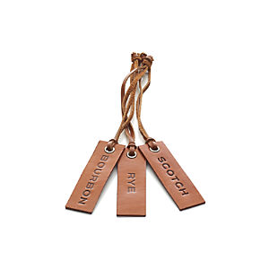Leather Whiskey Decanter Tags