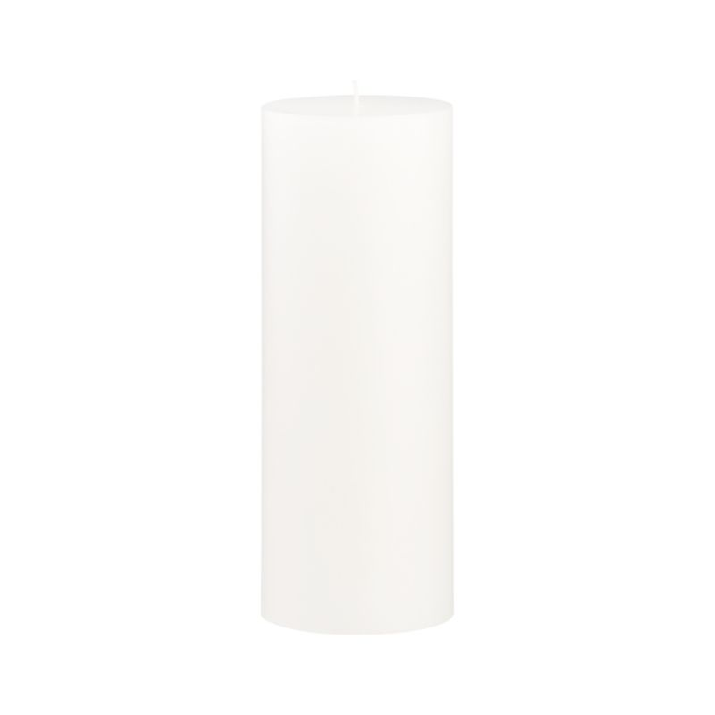 Stock up on the classic white pillar candle, in a variety of sizes.<br /><br /><NEWTAG/><ul><li>Paraffin wax</li><li>Cotton wick</li><li>Unscented</li><li>Burn time: 115 hours</li><li>Made in India</li></ul>