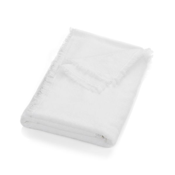 White Fringe Bath Sheet