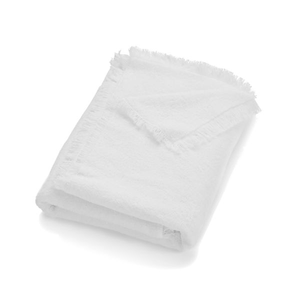 White Fringe Bath Towel