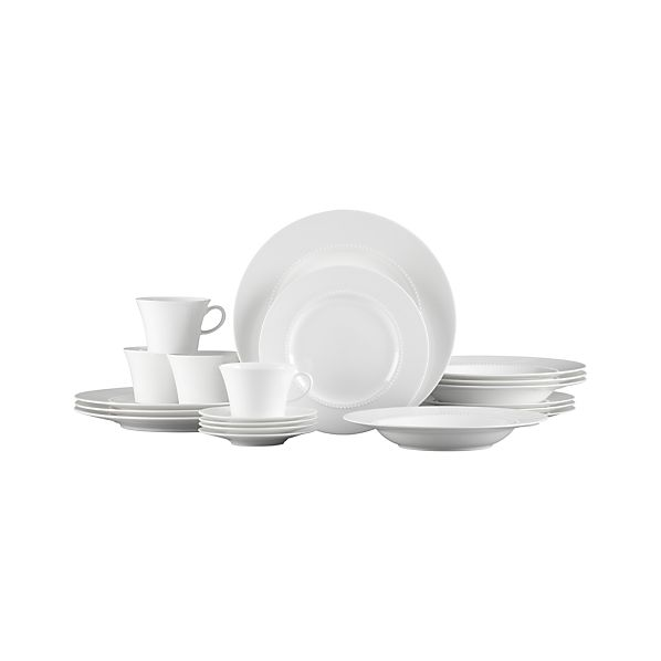 White Pearl 20-Piece Dinnerware Set