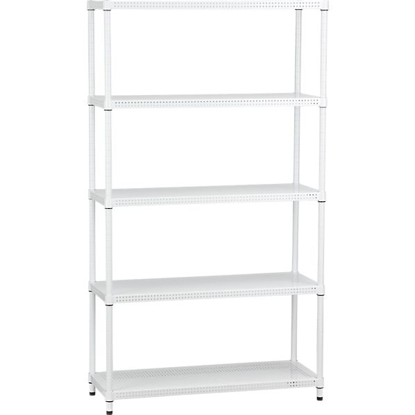 Perforated Five-Shelf Unit