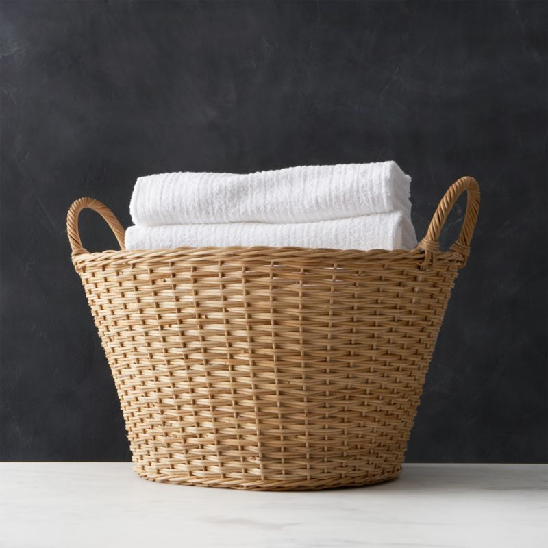 Wicker Laundry Basket Crate And Barrel