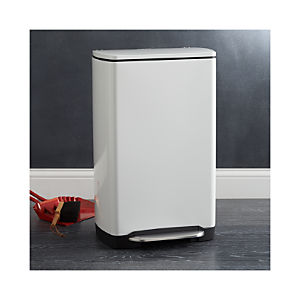 simplehuman® 10-Gallon White Wide Rectangular Step Can
