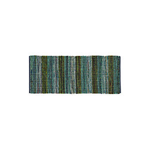 Wide Stripe Jade 2.5'x6' Rag Runner