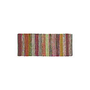 Wide Stripe Multi 2.5'x6' Rag Runner