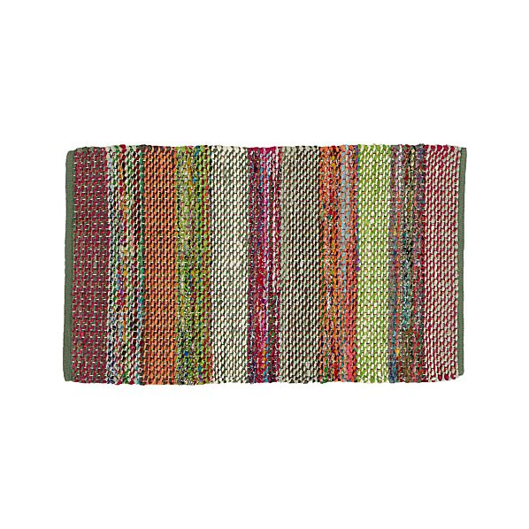 Wide Stripe Multi Rag Rug