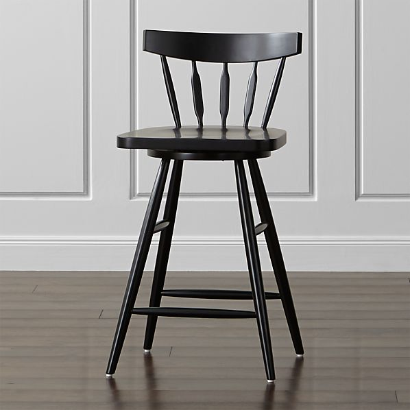 Willa Swivel Black Counter Stool