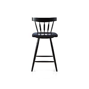 "Willa 24"" Swivel Black Counter Stool"