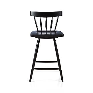 "Willa 24"" Swivel Black Stool"