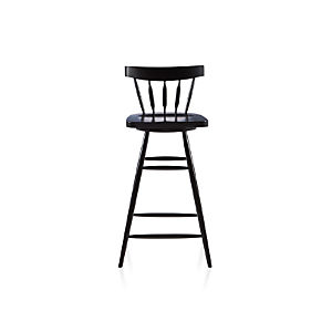 "Willa 30"" Swivel Black Stool"