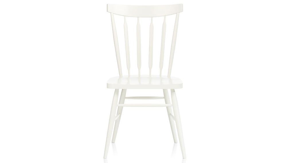 Willa White Wood Dining Chair In Dining Chairs Crate And