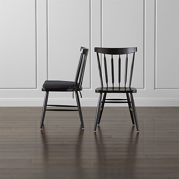 Willa Black Side Chair and Cushion