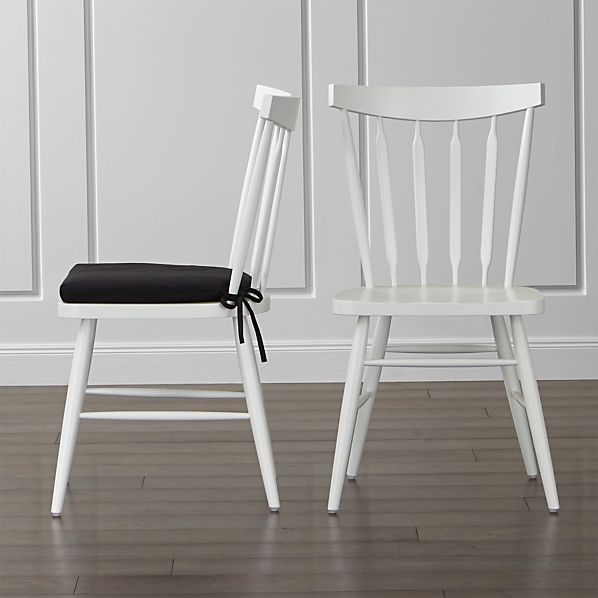 Willa White Side Chair and Cushion