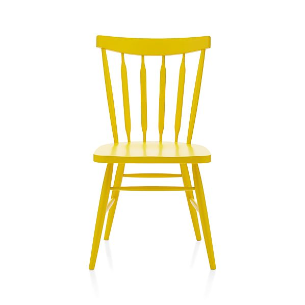 willa yellow side chair crate and barrel