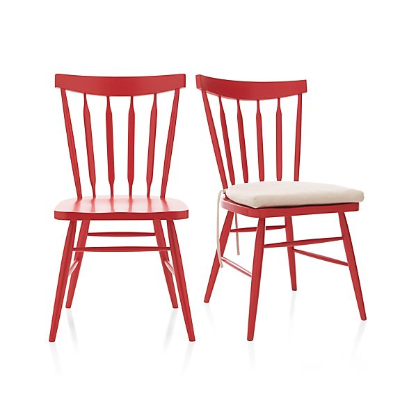 Willa Red Side Chair And Cushion Crate And Barrel
