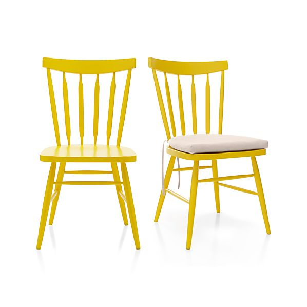 Willa Yellow Side Chair and Cushion