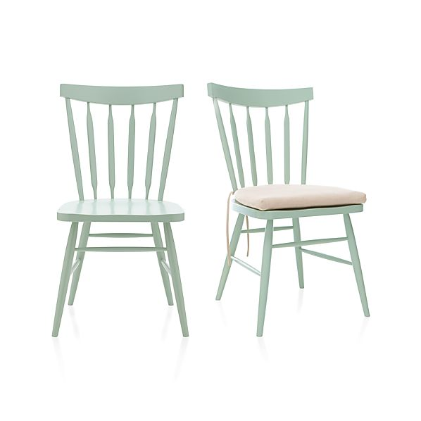 Willa Mint Side Chair and Cushion