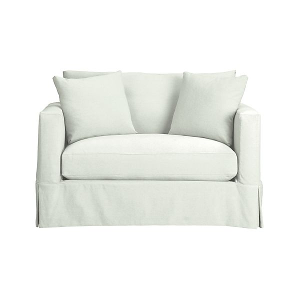 Slipcover Only For Willow Twin Sleeper Sofa Snow Crate