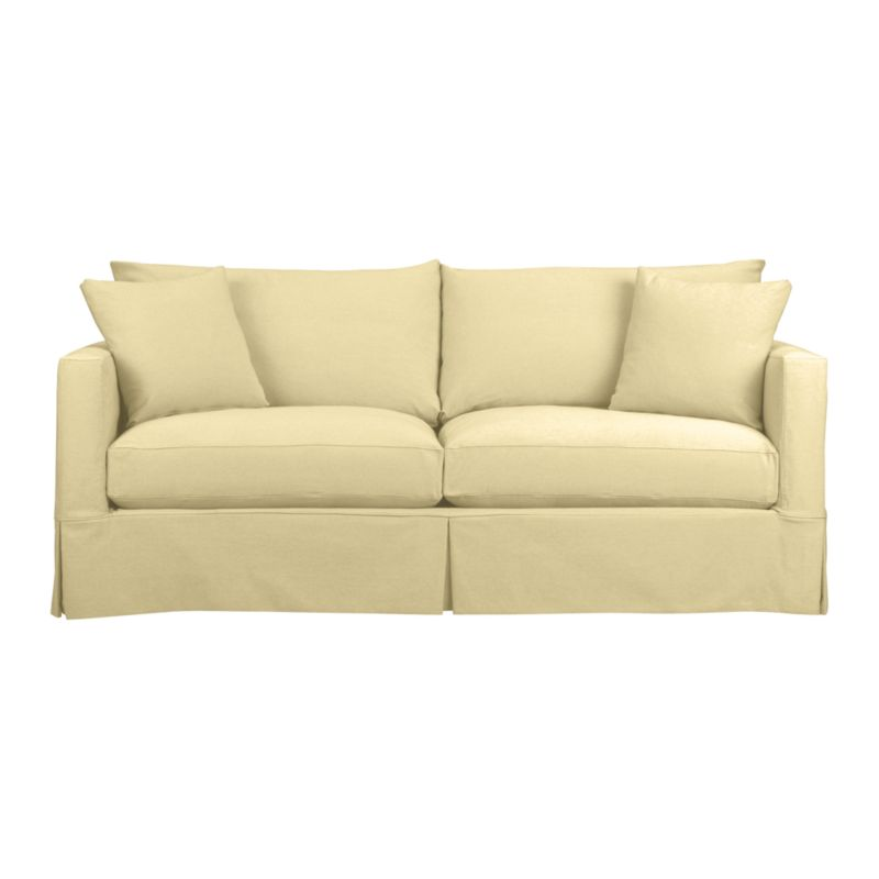 Crate and Barrel: Willow Sofa in Deso: Ecru