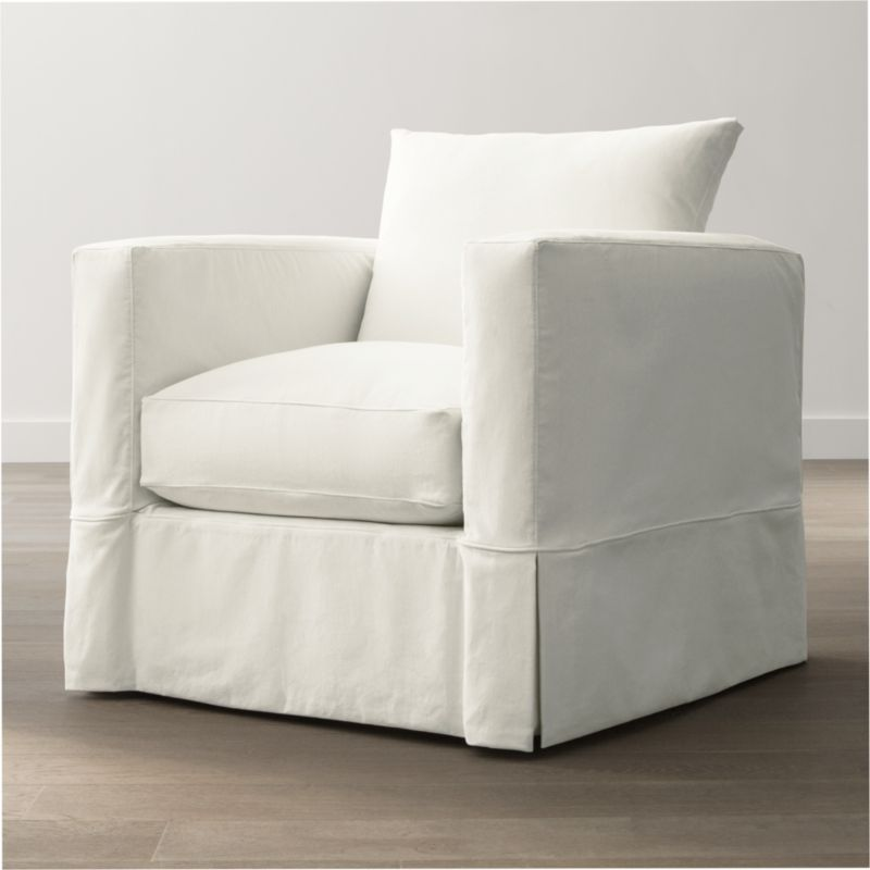 Slipcover Only For Willow Chair Snow Crate And Barrel