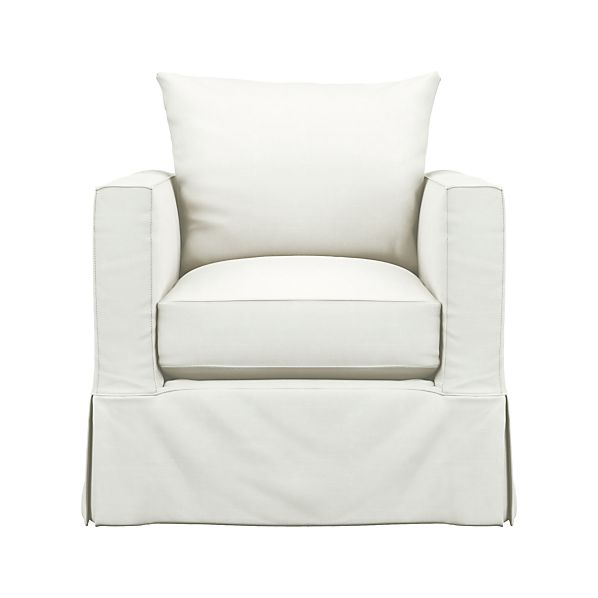 Slipcover Only for Willow Chair in Chairs | Crate and Barrel