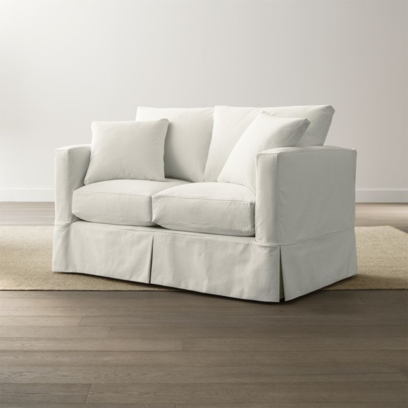 Willow Loveseat Snow Crate And Barrel