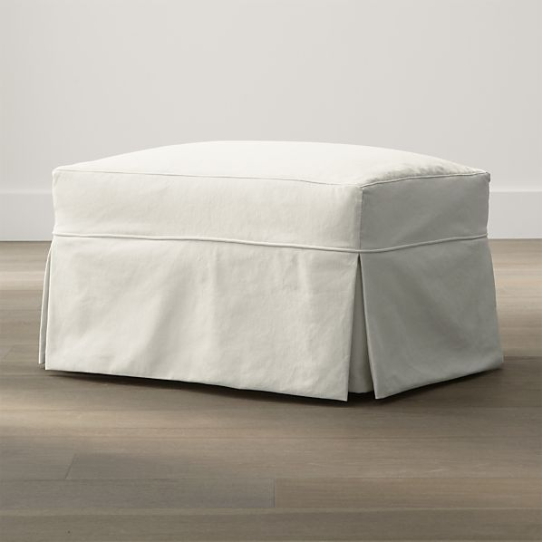 Willow Ottoman with Casters