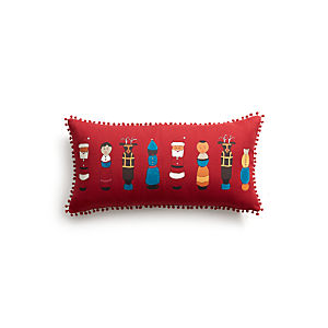 "Winder 24""x12"" Pillow with Feather-Down Insert"