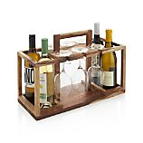 Wine Bottle and Glass Caddy