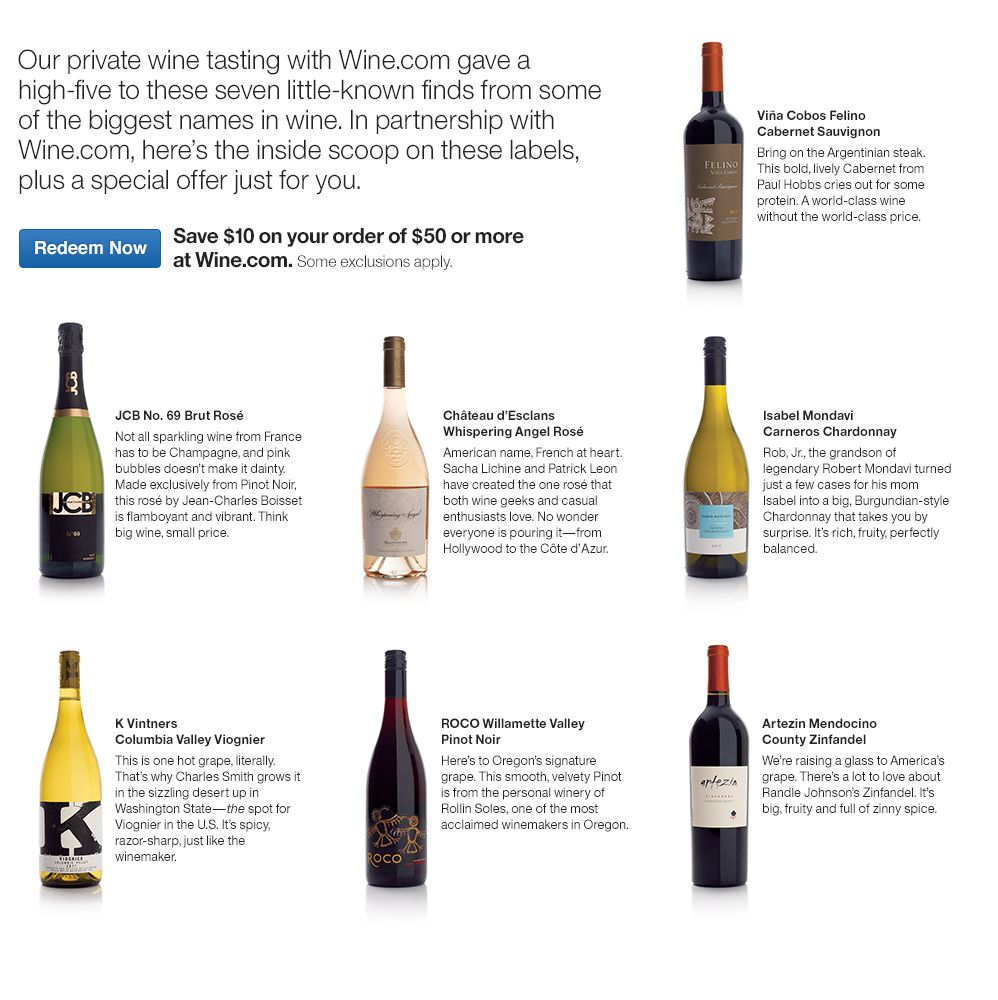 Boutique Wines at Wine.com
