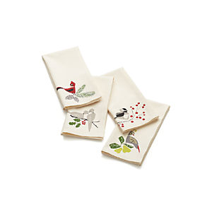 Winter Birds Napkins Set of Four