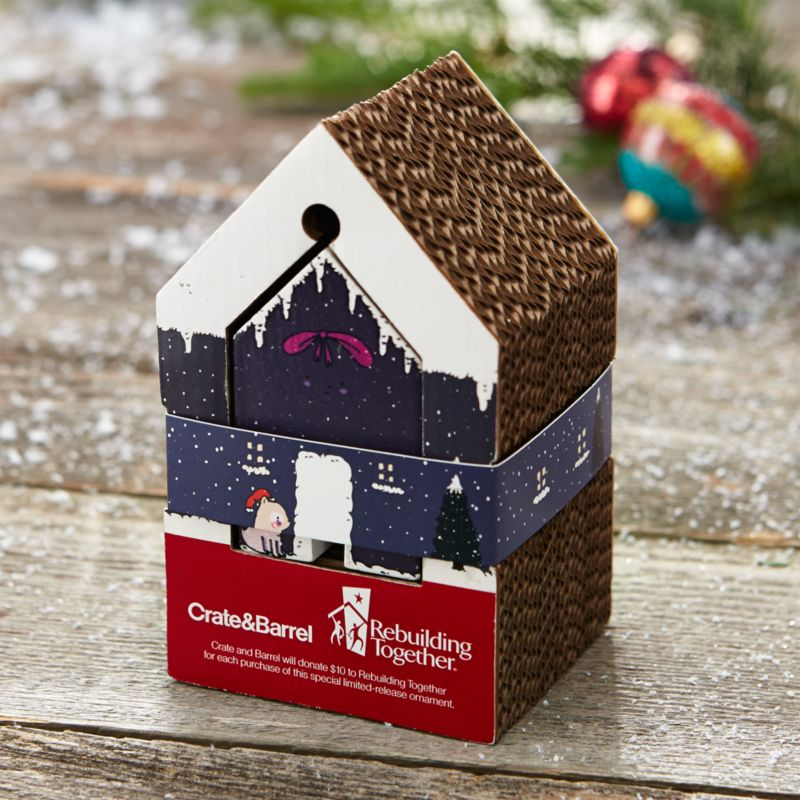 Adorable Home Shaped Christmas Ornament