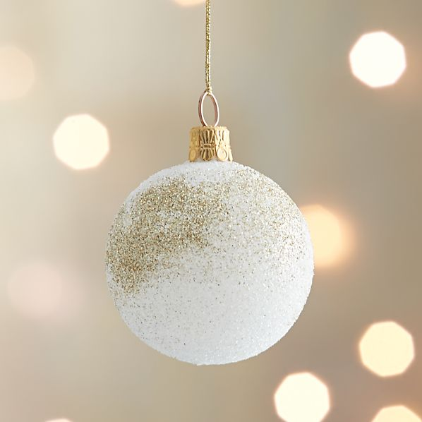 Winter White Snowdrift Ball Ornament