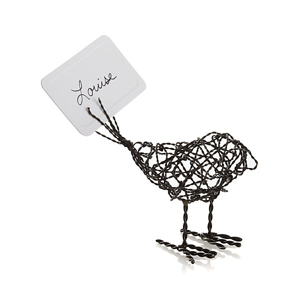 Wire Bird Place Card Holder