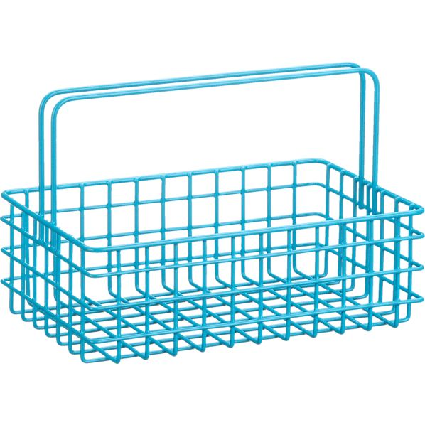 Turquoise Wire Caddy
