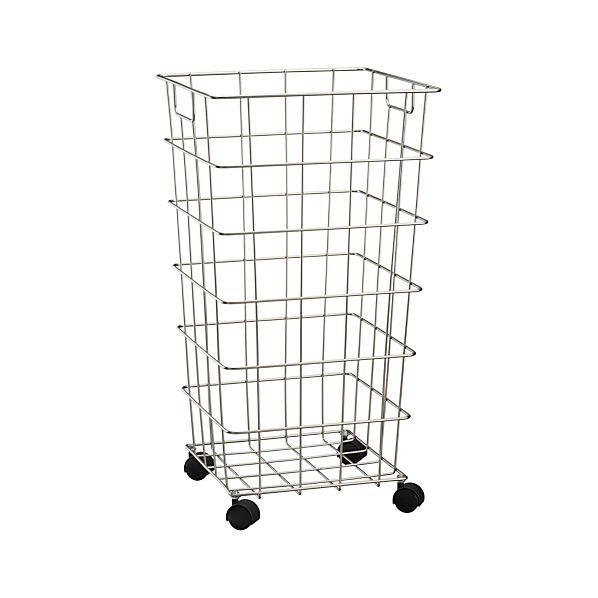 wire hamper with wheels. Black Bedroom Furniture Sets. Home Design Ideas