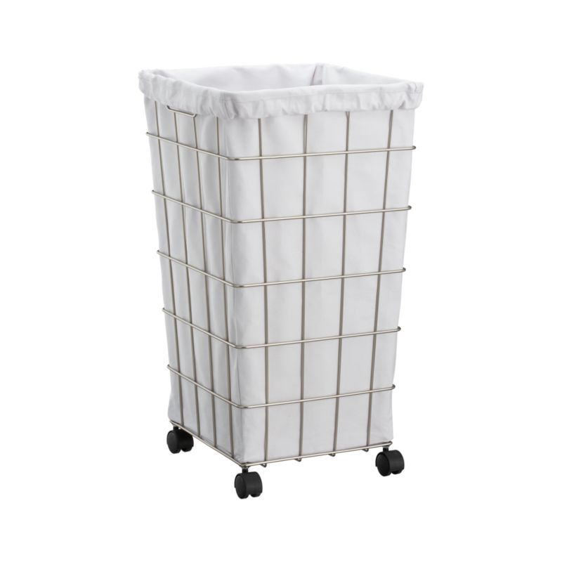 Wire Hamper with White Liner Set : Crate and Barrel