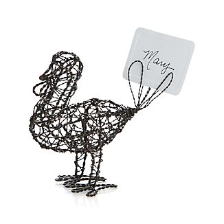 Wire Turkey Placecard Holder