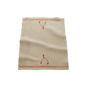 Wishbone Linen Dish Towel