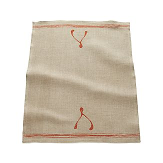 Wishbone Linen Dishtowel