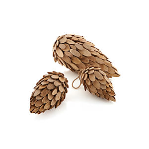 Wood Pinecones