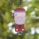 Woodcut Santa Ornament