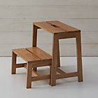 Wooden 2-Step Stool.