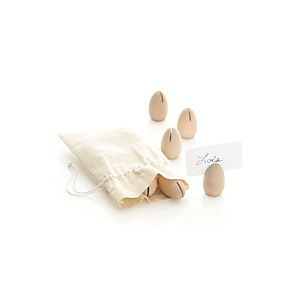 Wooden Egg Placecard Holders Set of 12