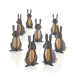 Set of 8 Woodland Bunnies
