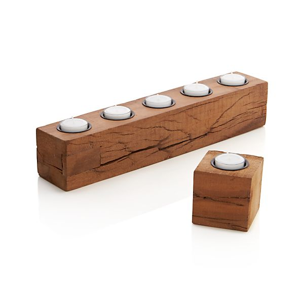 Woodsy Candle Holders