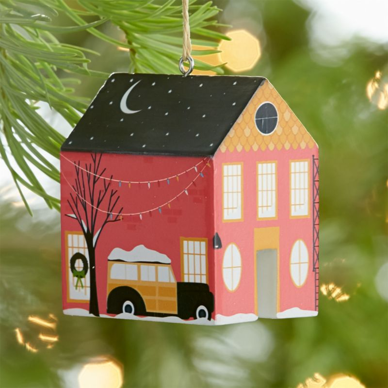 Andrew Bannecker's Limited Edition Charity Ornament Featuring a Pink Home