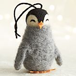 Wooly Penguin with Eyes Closed Ornament