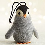 Wooly Penguin with Eyes Open Ornament